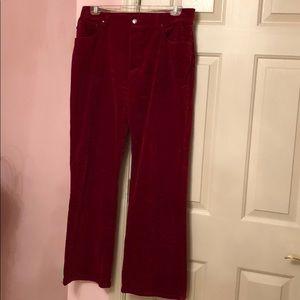 Ralph Lauren velvet boot cut pants